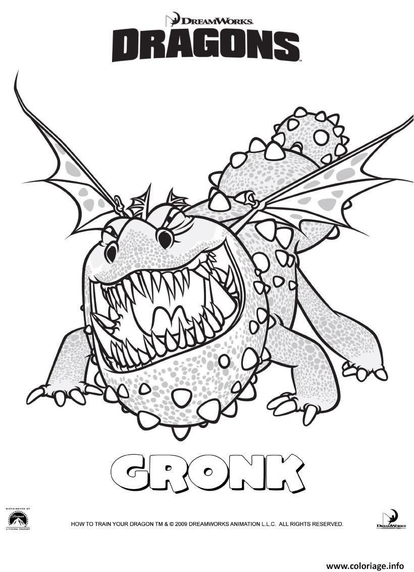 Coloriage dragons le film gronckle dessin - Coloriages de dragons ...