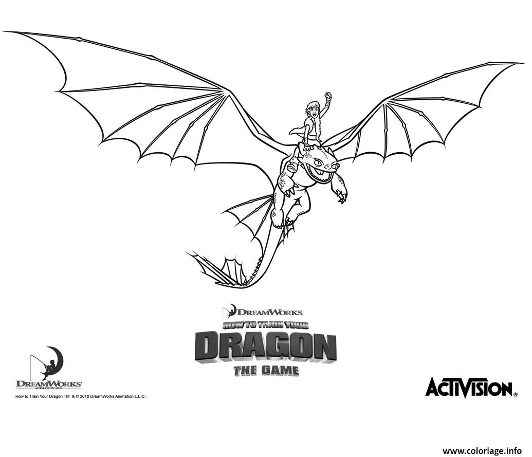 Coloriage dragons le film train dragon night fury hiccup - Coloriages de dragons ...