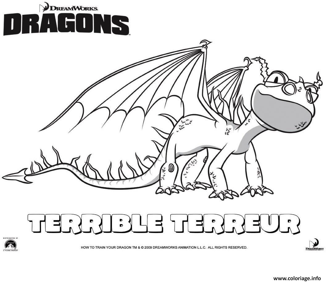 Coloriage dragons le film terrible terror dessin - Imprimer dragon ...