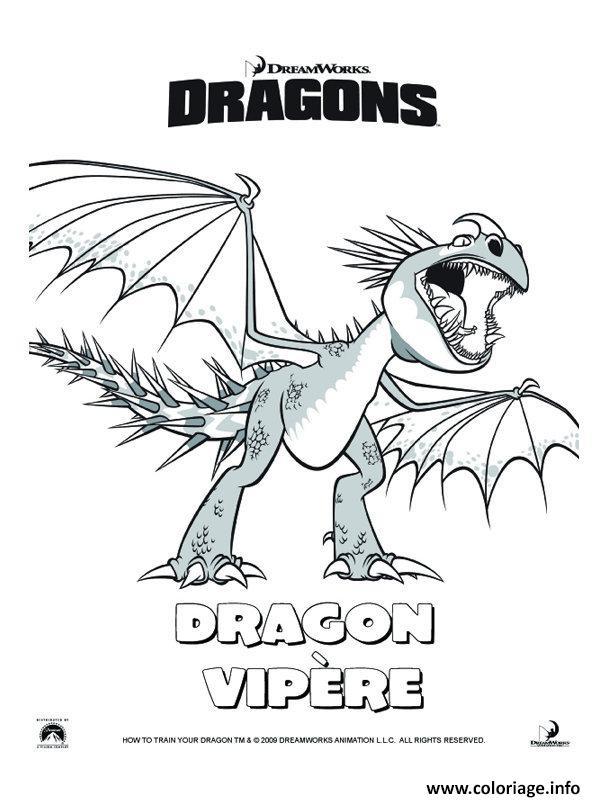 Coloriage dragon vipere film 2 dessin - Coloriage dragon 2 ...