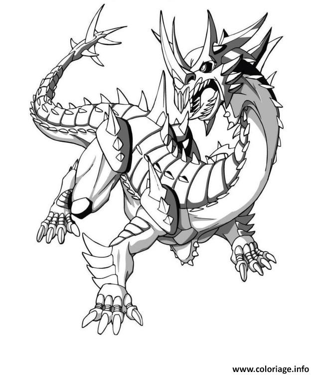 Coloriage Dragon 3d Dessin Dragon à imprimer