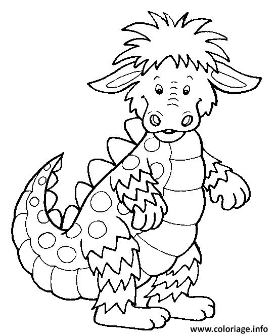 Coloriage dragon enfants facile dessin - Dessin dragon facile ...