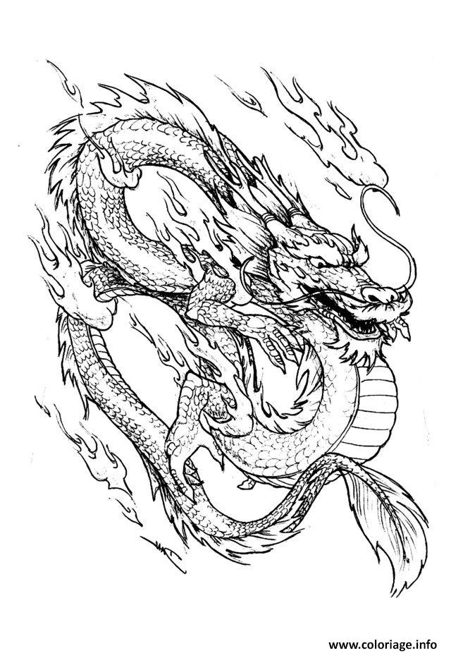 coloriage dragon chinois 3 dessin. Black Bedroom Furniture Sets. Home Design Ideas