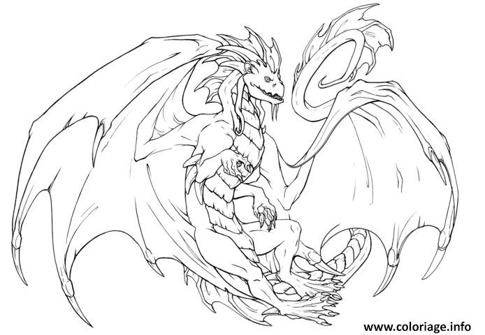 Coloriage dragon 220 - Dessins dragon ...