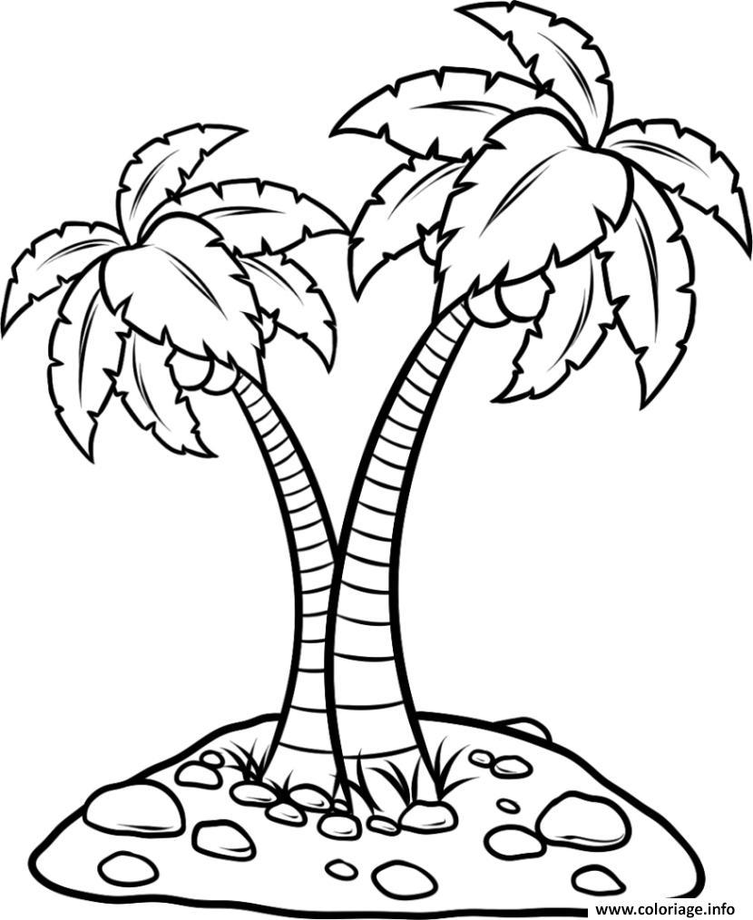 Coloriage palmier facile - Palmier dessin ...