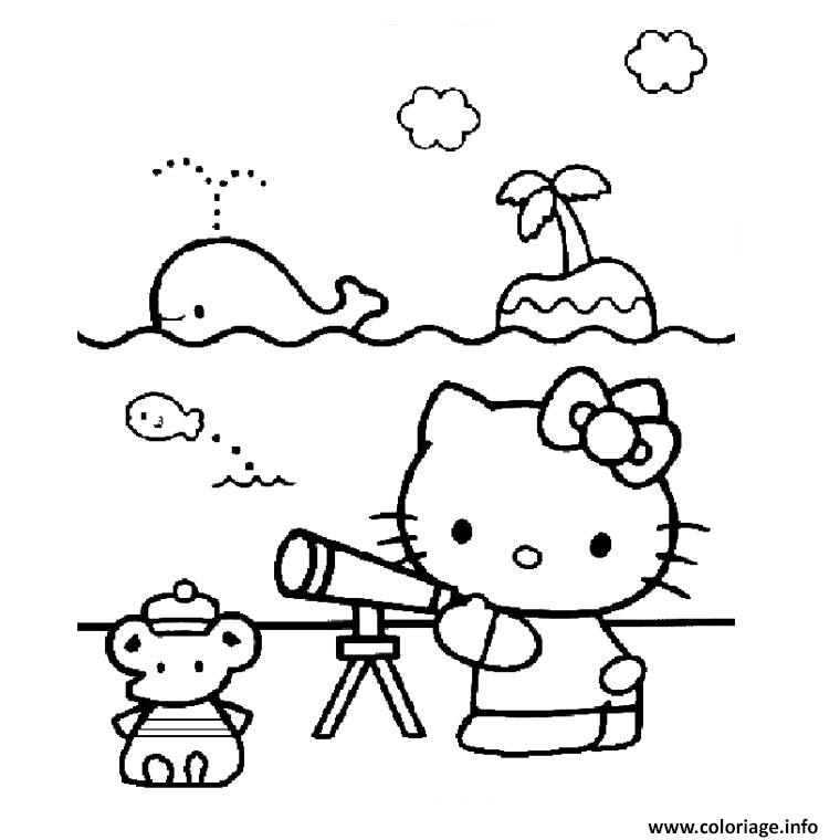 Coloriage palmier hello kitty dessin - Coloriage hello kitty jeux ...
