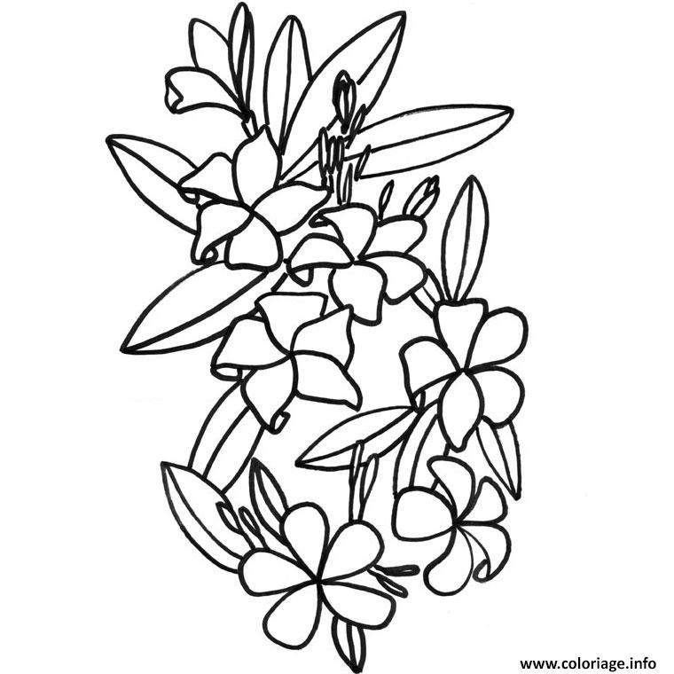 Coloriage Fleur De Tiare Dessin