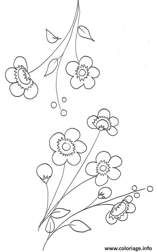 Coloriage Fleur De Cerisier Dessin Fleurs A Imprimer