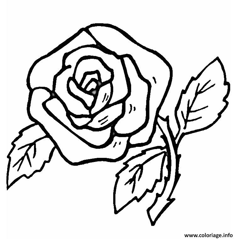 Coloriage fleur rose simple et facile dessin - Photo de fleur a dessiner ...