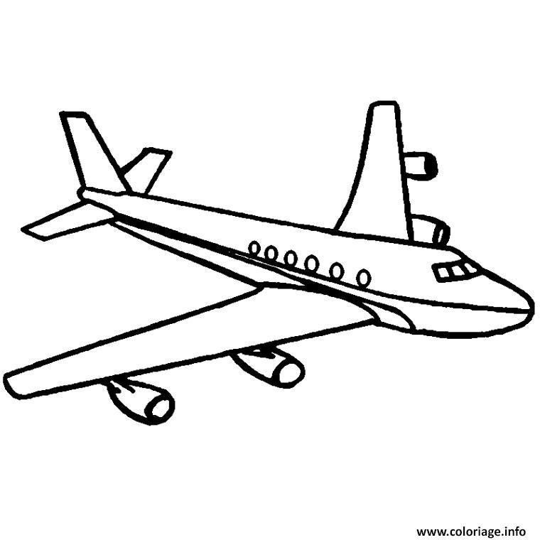 Coloriage avion airbus - Dessin avion a imprimer gratuit ...