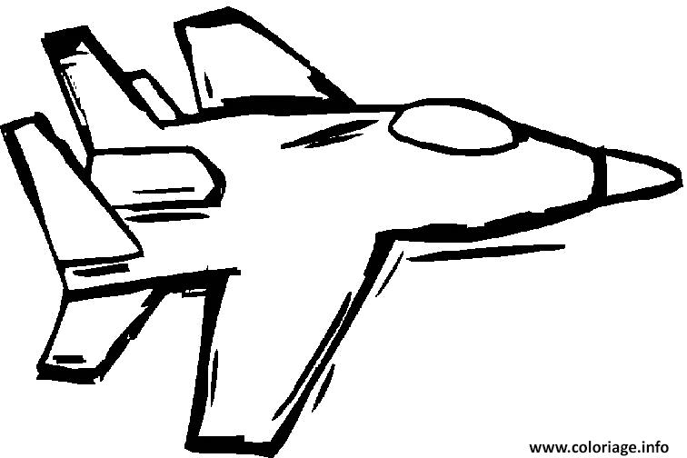 Coloriage avion de chasse 20 dessin - Avion en dessin ...