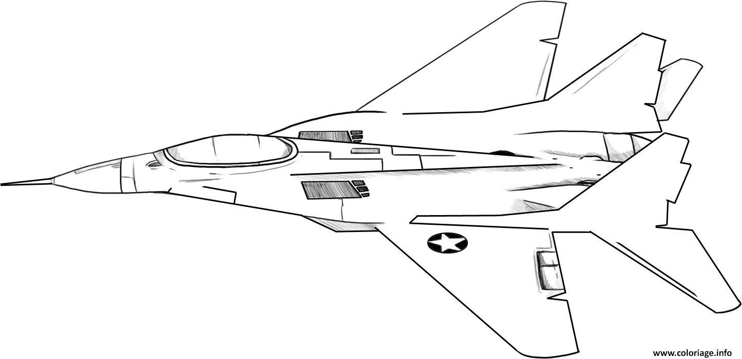 Coloriage avion de chasse 44 - Coloriage avion ...