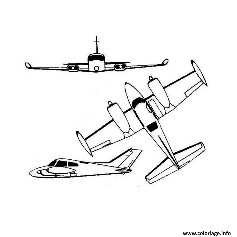 Coloriage Avion dessin