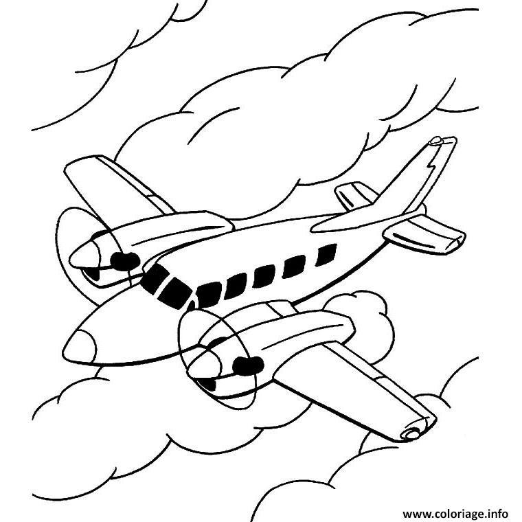 Coloriage Avion De Ligne Jecolorie Com