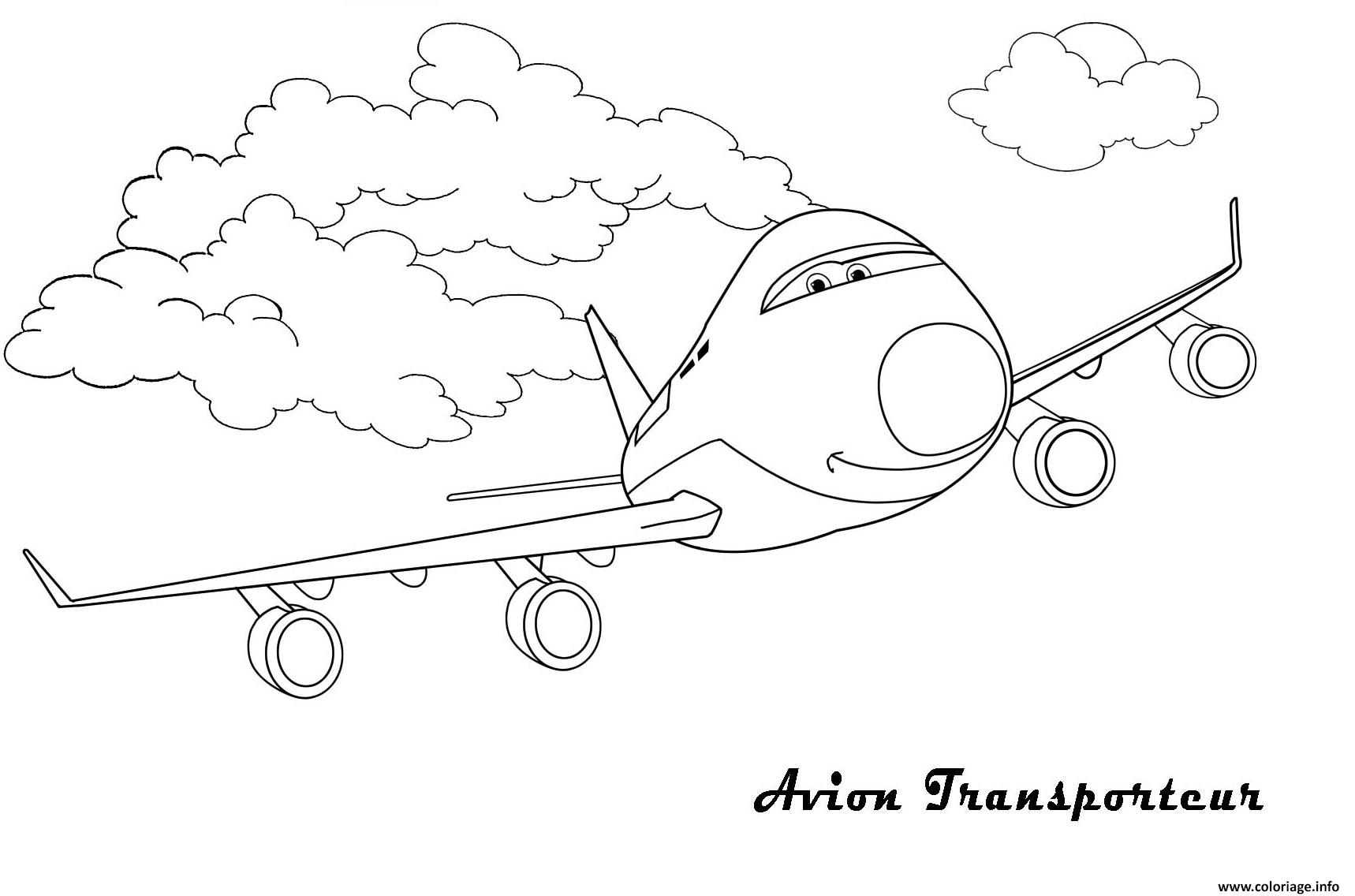 Coloriage Dans L Avion: Coloriage Avion 81 Dessin