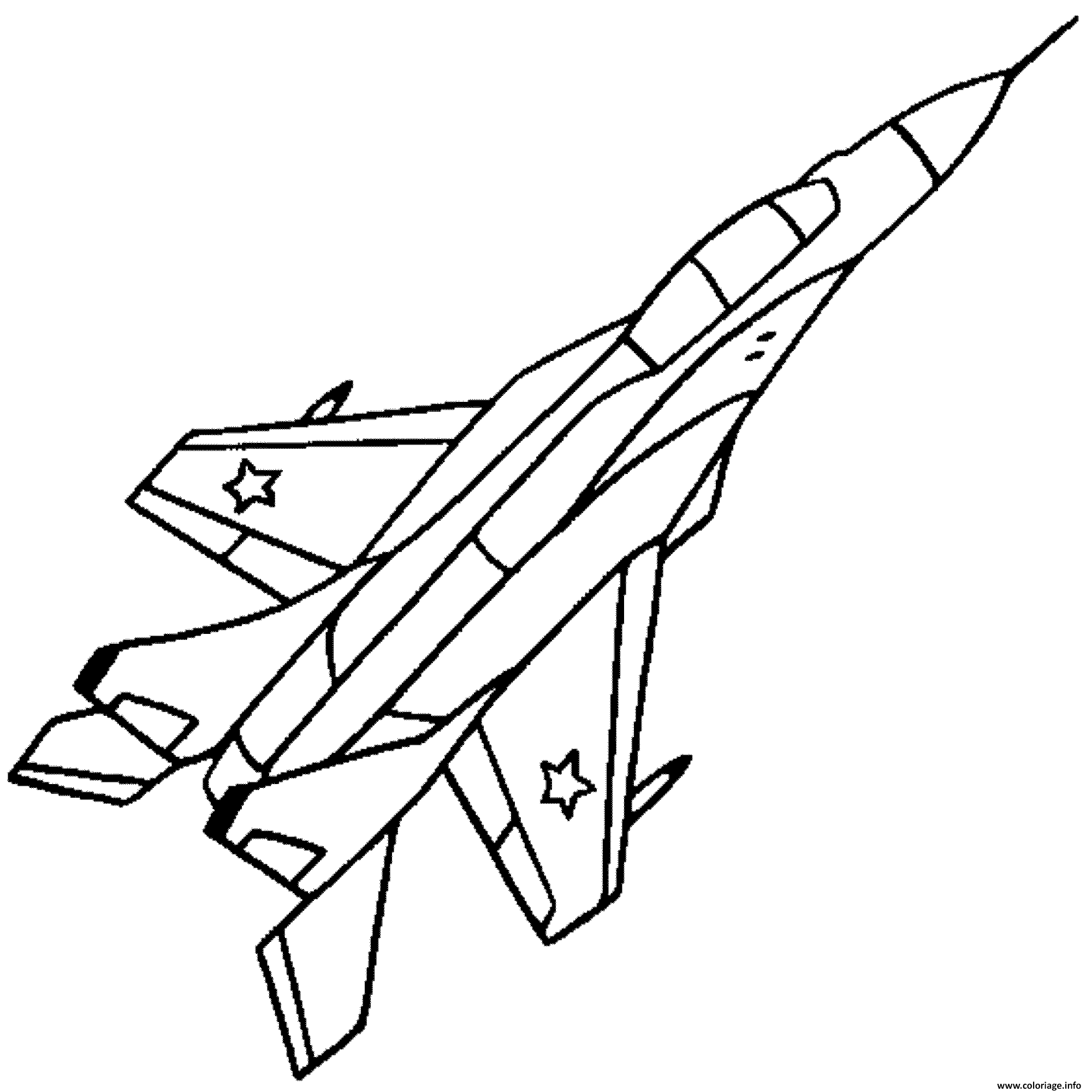 Coloriage avion de chasse 35 - Dessin de avion ...