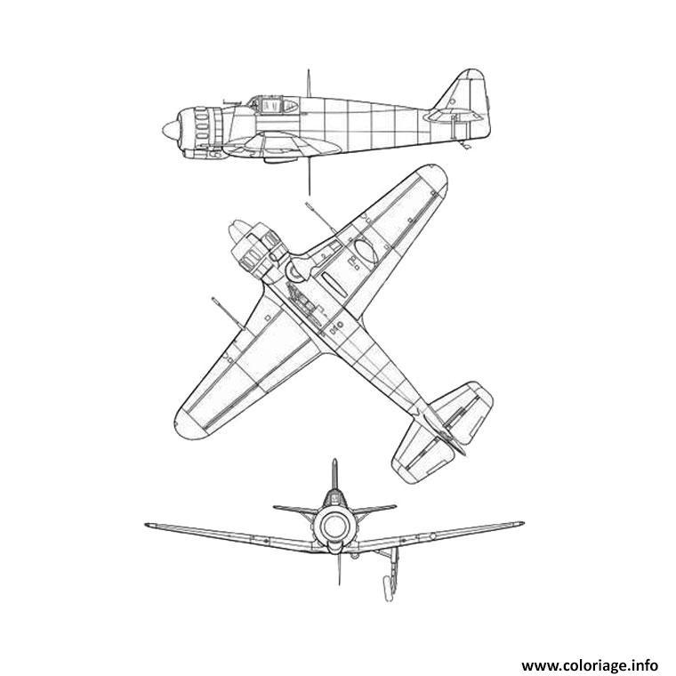 Coloriage Avion Guerre Dessin Avion à imprimer