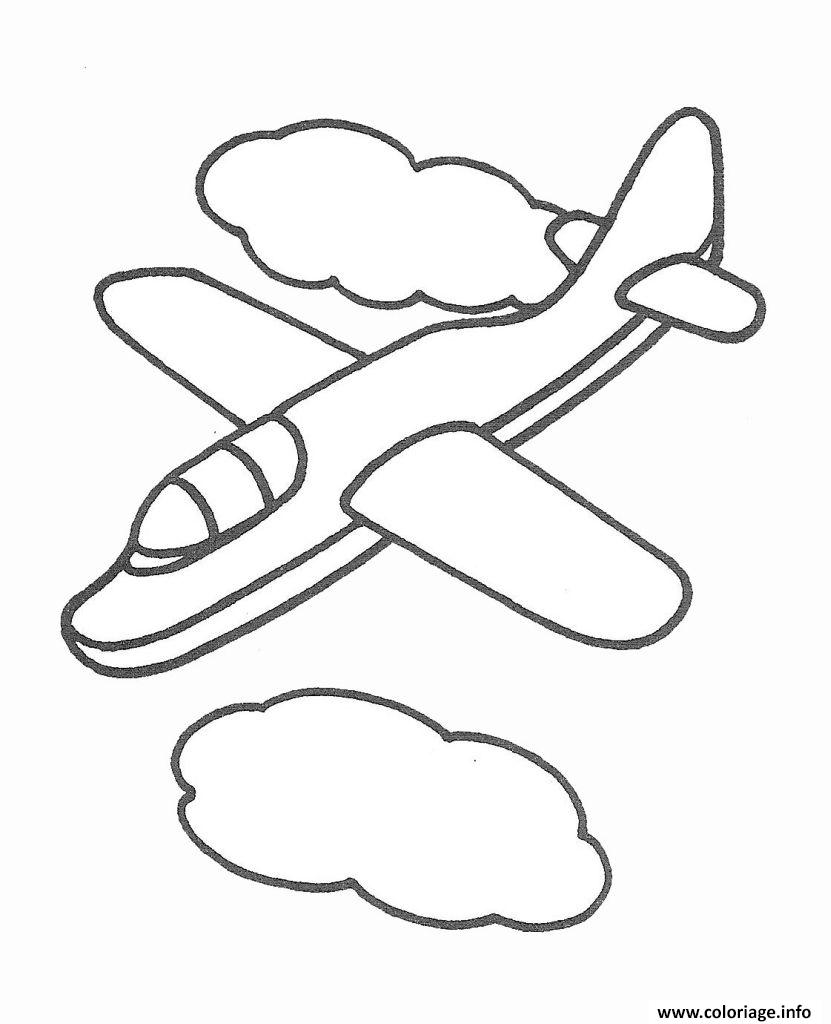 Coloriage avion 133 dessin - Dessins avions ...