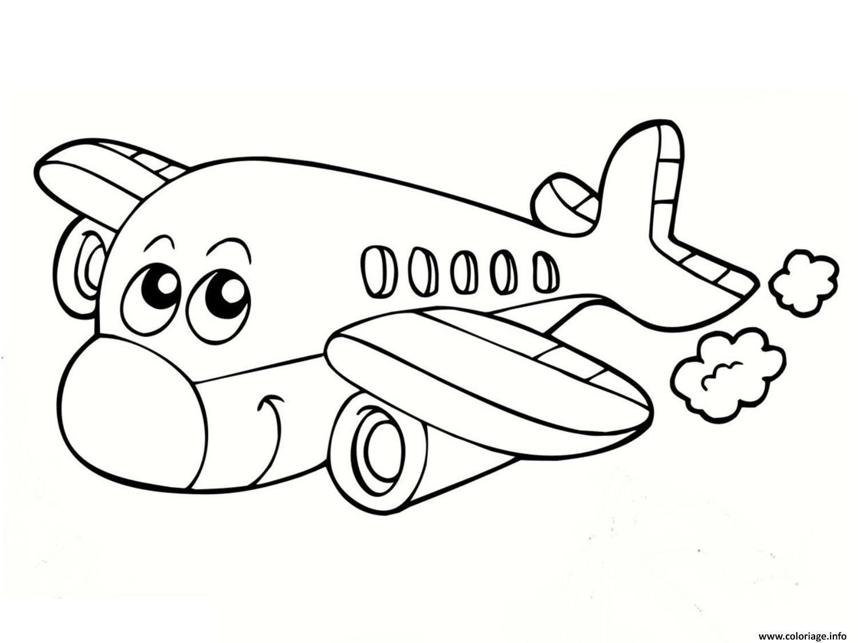 Coloriage Avion 14 Dessin