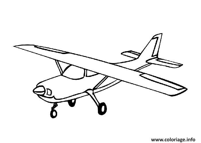 Coloriage avion 64 - JeColorie.com