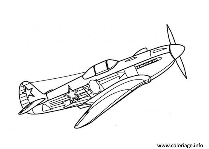 Avion De Guerre Coloriage