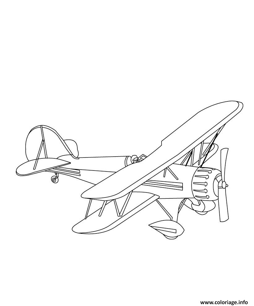 Coloriage Avion 47 Dessin Avion à imprimer