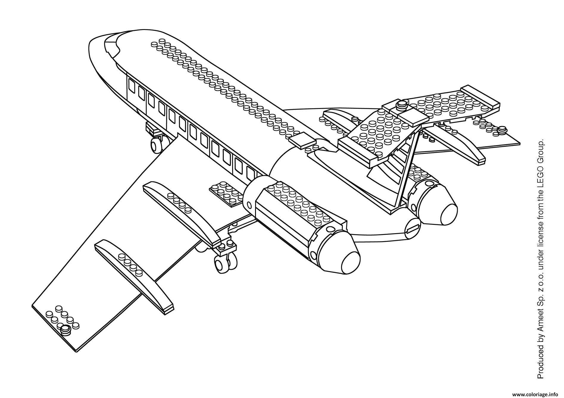 Coloriage avion 71 dessin - Lego city a colorier ...