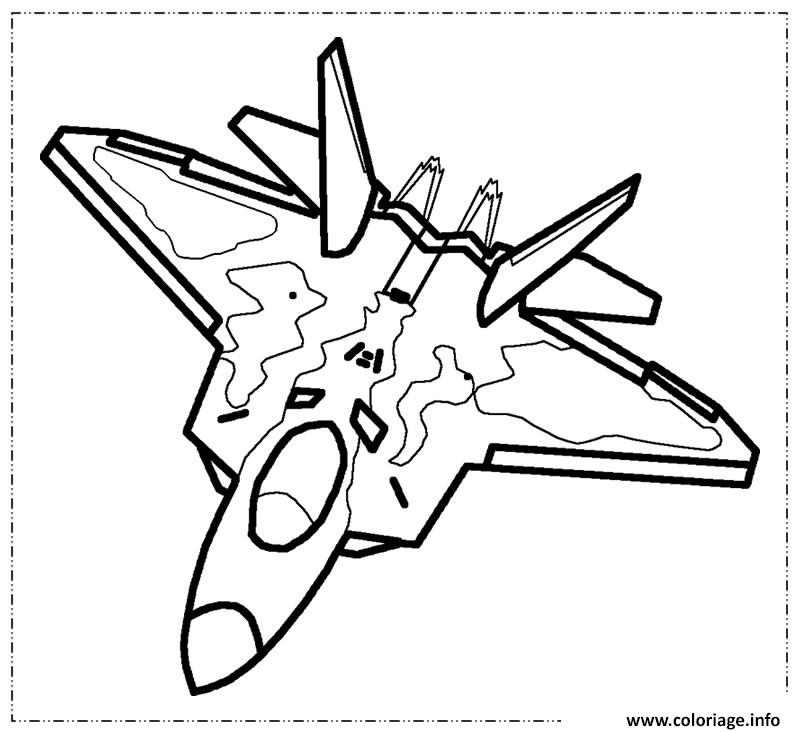 Coloriage avion de chasse 2 - Dessin de avion ...