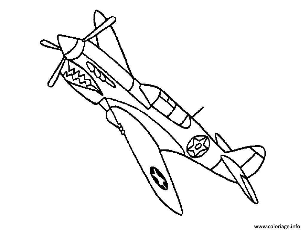 Coloriage Dans L Avion: Coloriage Avion 92 Dessin