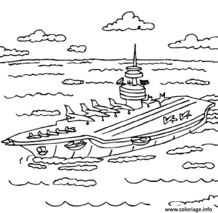 Coloriage porte avion 9 dessin - Avion en dessin ...