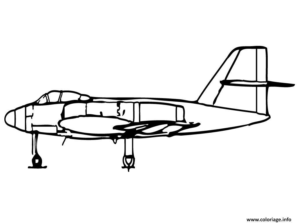Coloriage avion de chasse 10 dessin - Avion en dessin ...