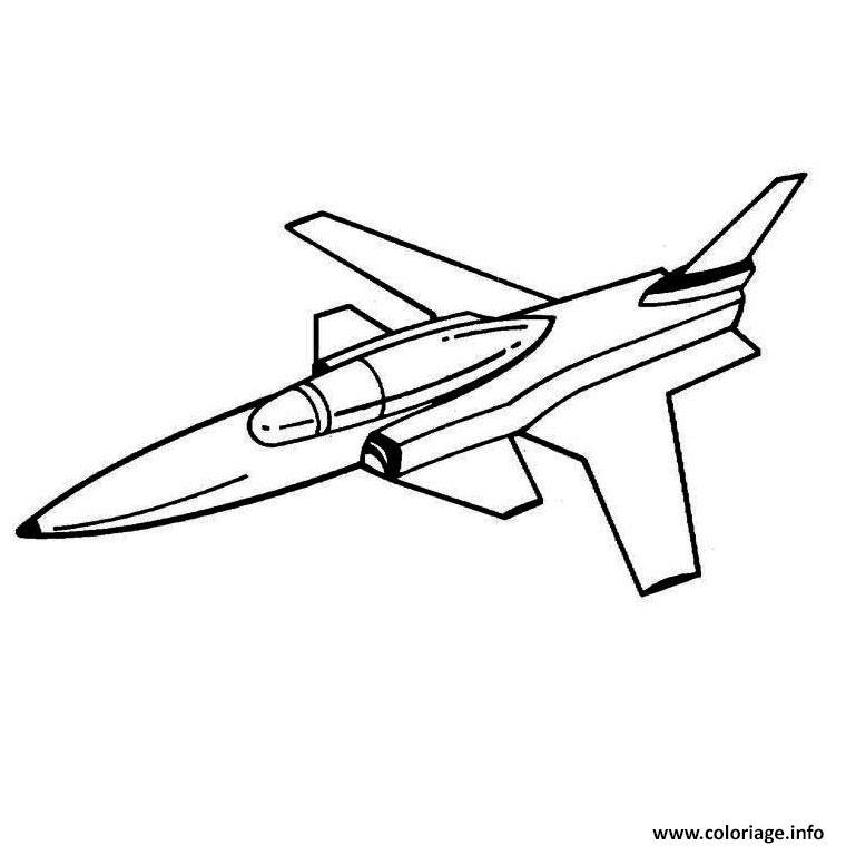 Coloriage avion de chasse - Dessin de chasse ...