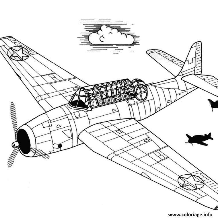 Coloriage avion chasse dessin - Coloriage d avion ...