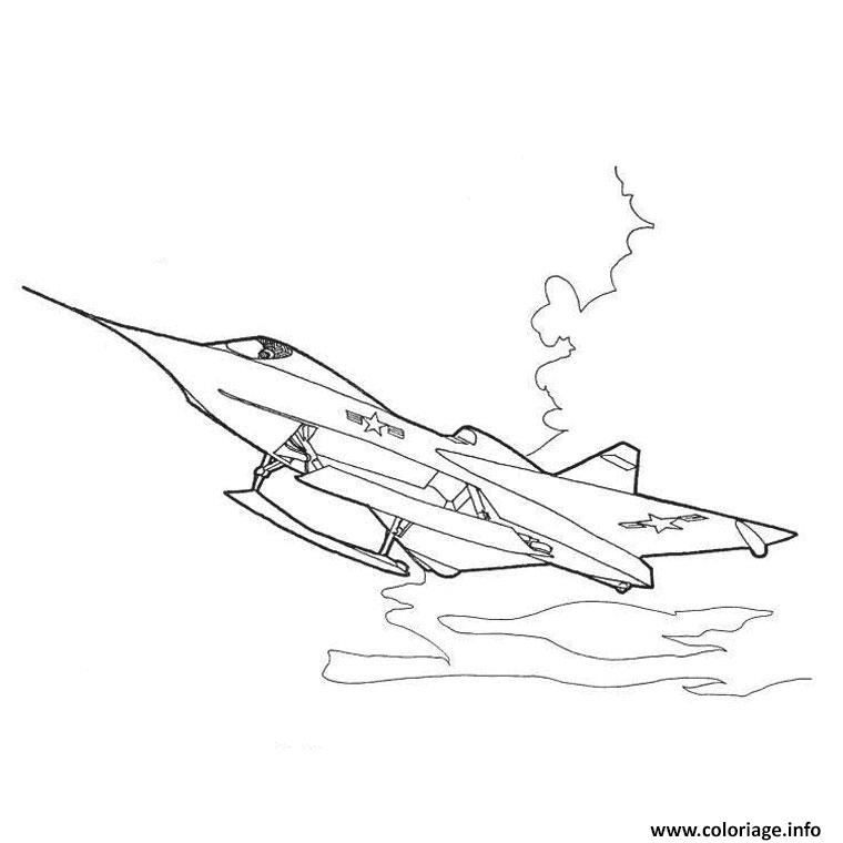 Coloriage avion de course - Dessin de avion ...