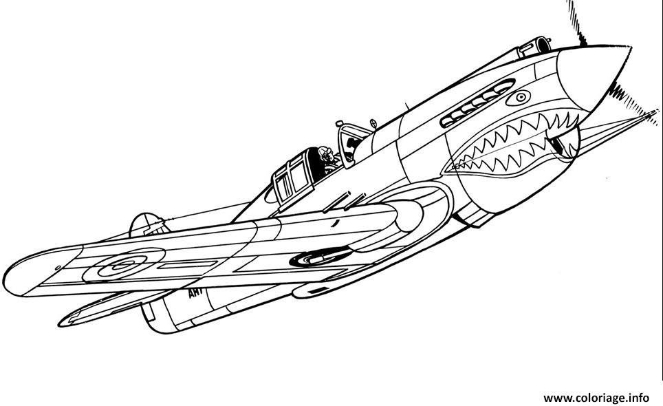 Coloriage Avion De Guerre 10 dessin