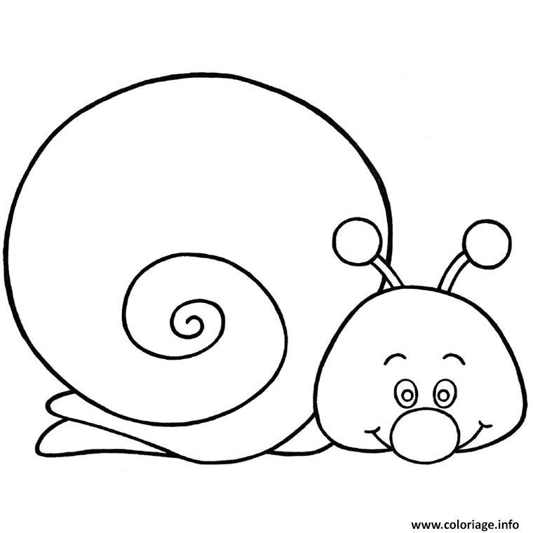 Coloriage escargot rigolo dessin - Coloriage escargot a imprimer ...