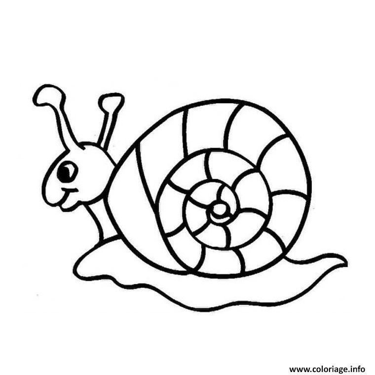 Coloriage escargot blanc dessin - Coloriage escargot a imprimer ...