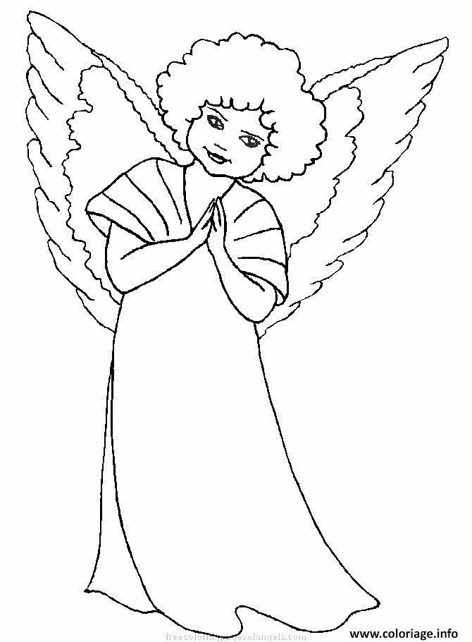 Coloriage ange de noel 32 dessin - Coloriage ange ...