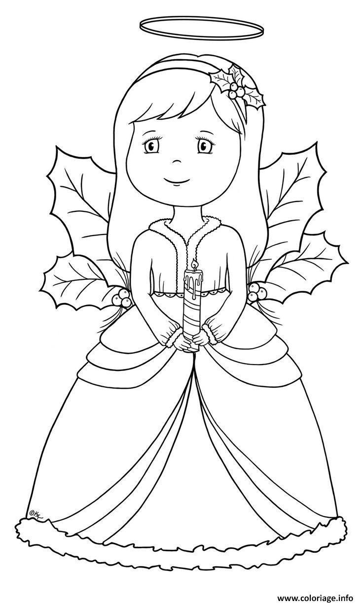 Coloriage Ange De Noel 49 Dessin Ange De Noel A Imprimer