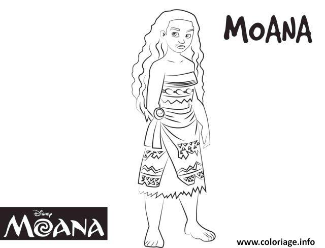 coloriage cute vaiana moana disney