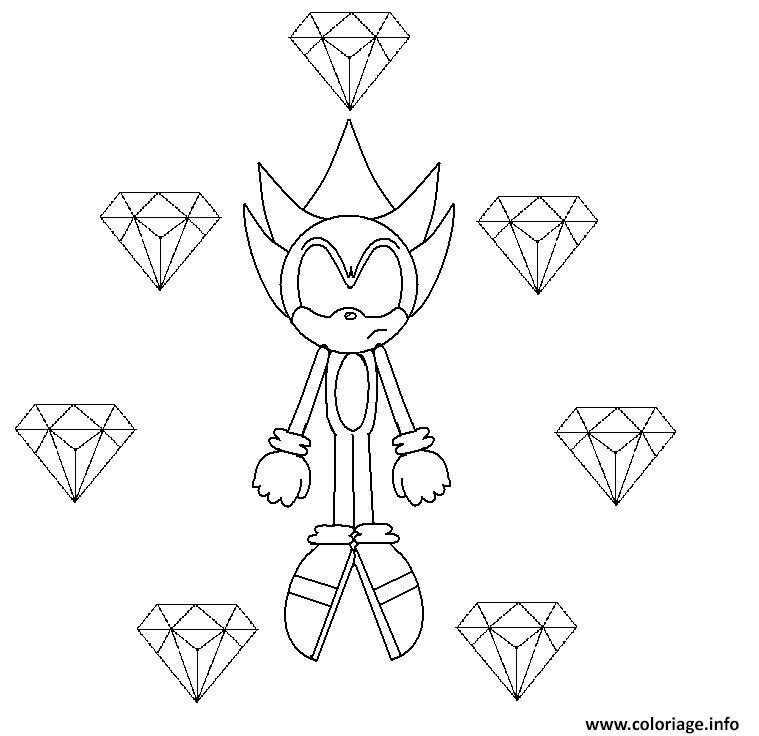Coloriage Super Sonic 8 dessin