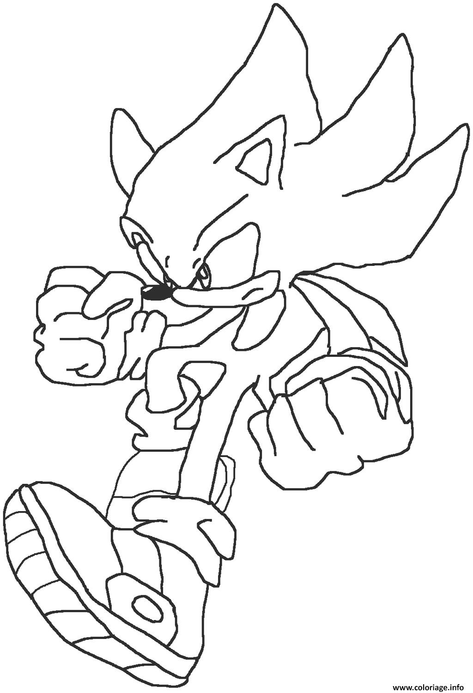Coloriage Sonic 181 dessin