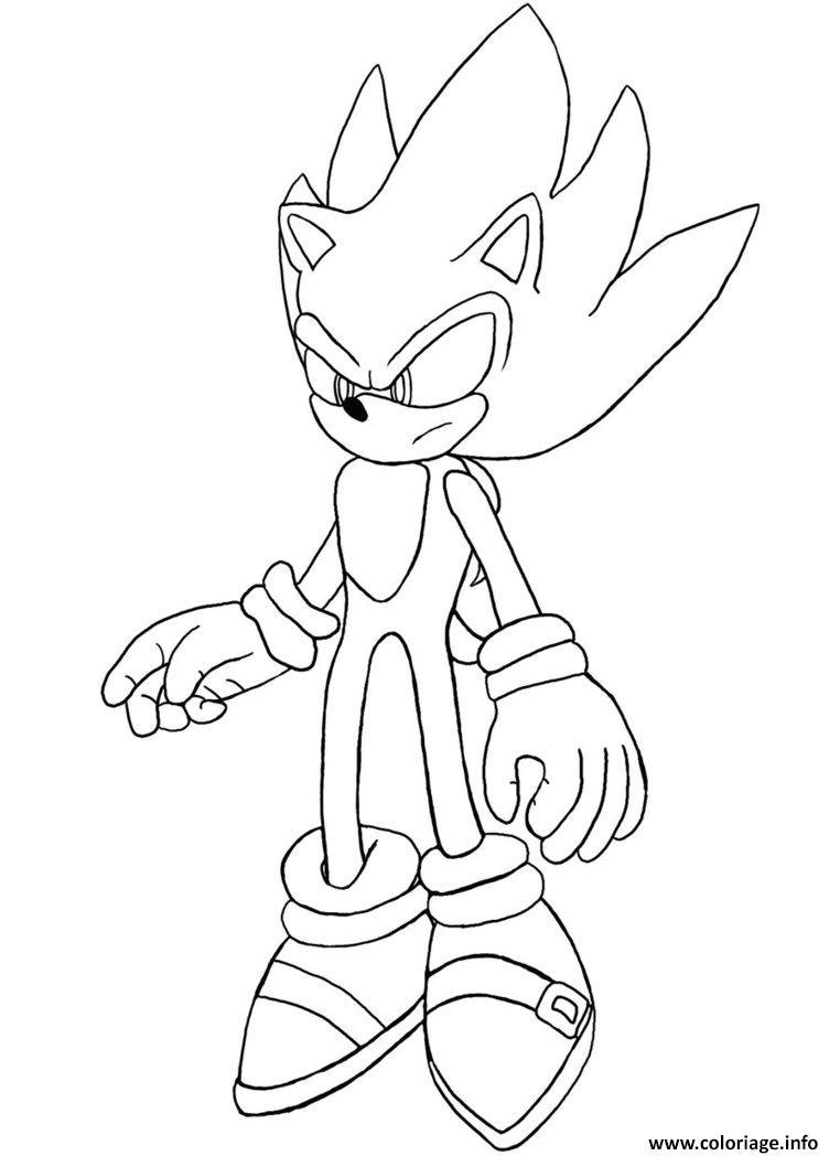 Coloriage Gratuit Sonic.Coloriage Super Sonic 2 Jecolorie Com