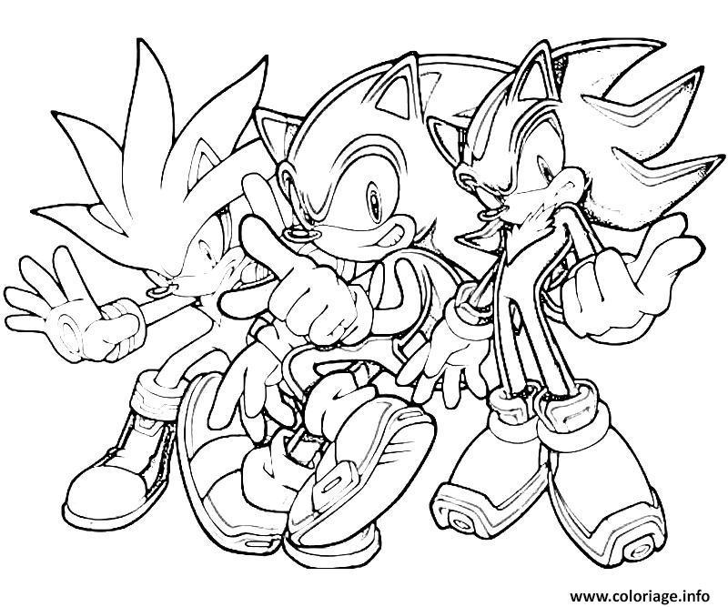 Coloriage Super Sonic 100 dessin