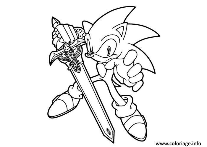 Coloriage Sonic A Imprimer