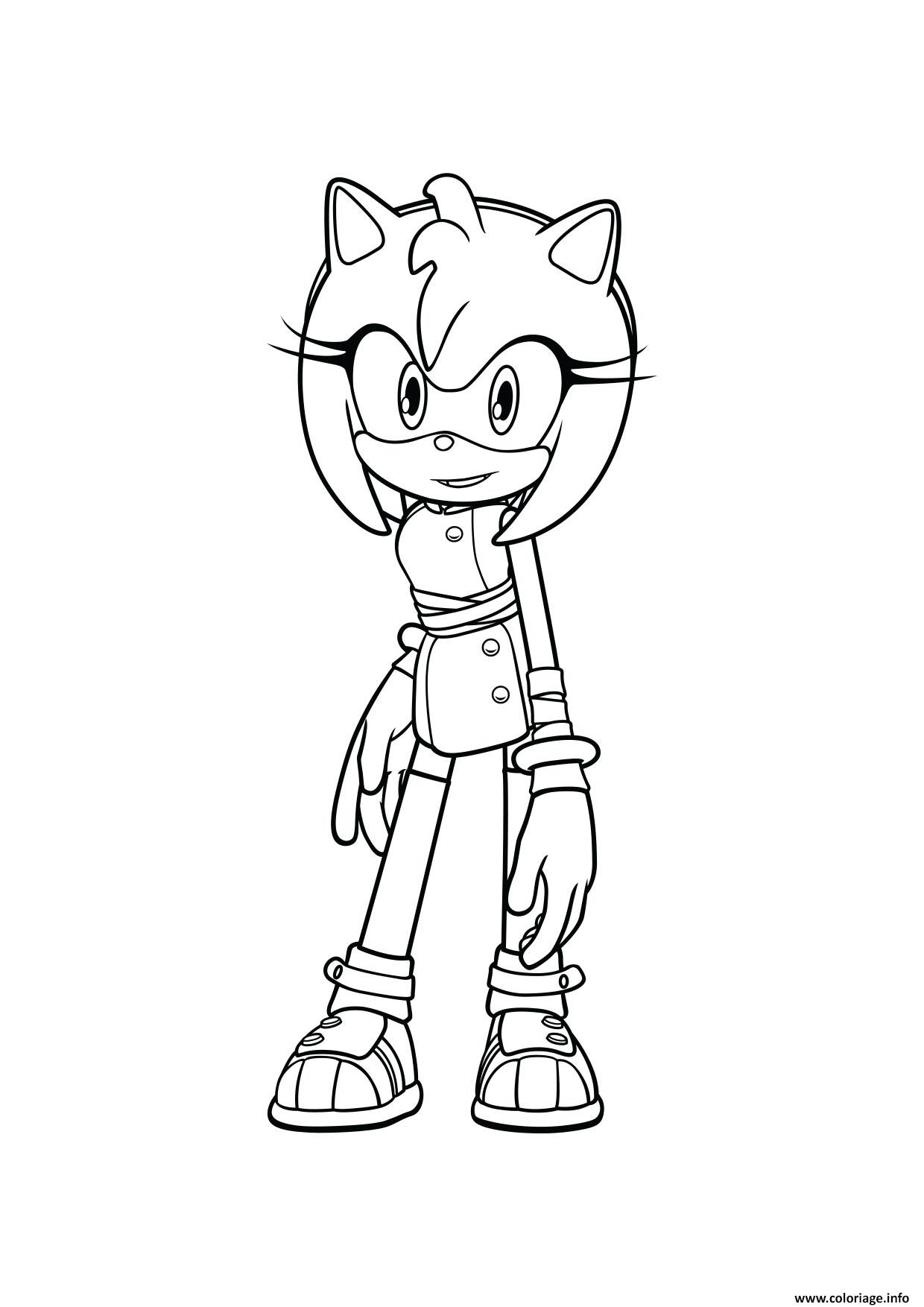 sonic amy coloriage dessin