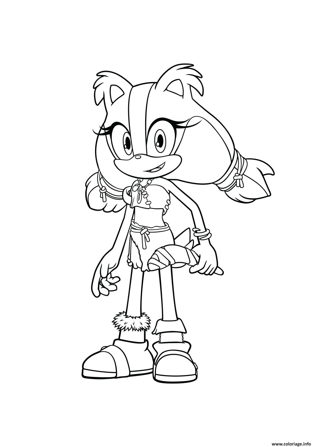 Coloriage sonic sticks - Dessin dessin ...