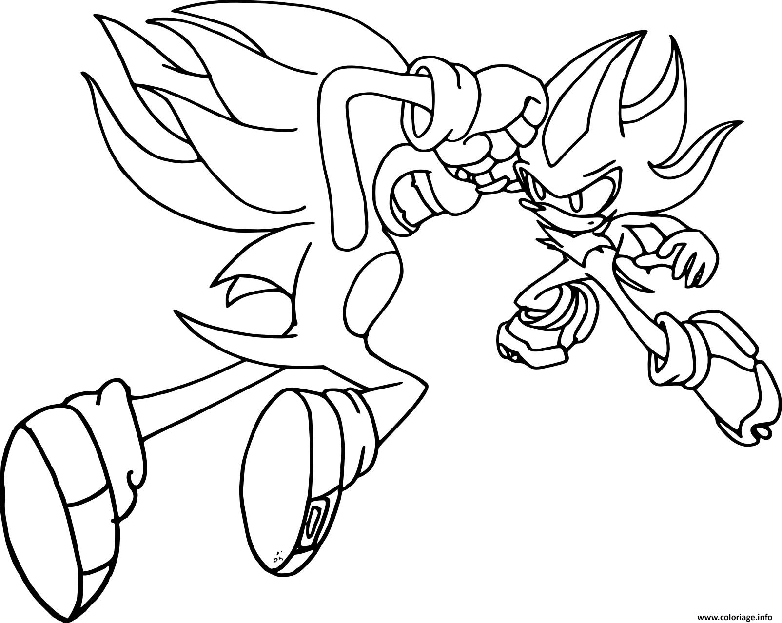 Coloriage Sonic Shadow Dessin