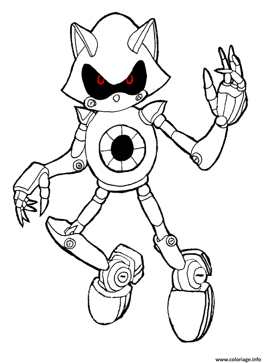 sonic robot coloriage dessin