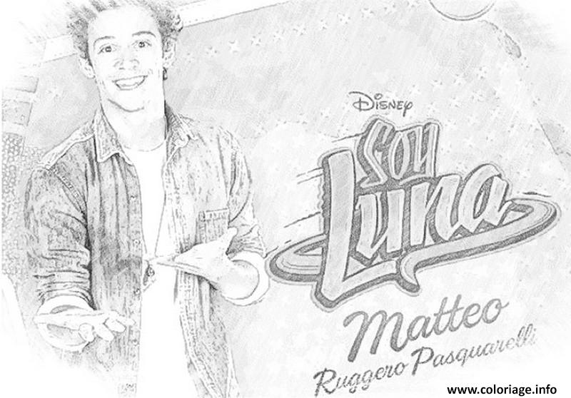 Soy Luna 3 Para Colorear: Coloriage Soy Luna Matteo Dessin